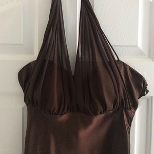Long brown formal dress size 8
